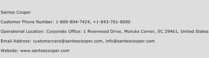 Santee Cooper Phone Number Customer Service