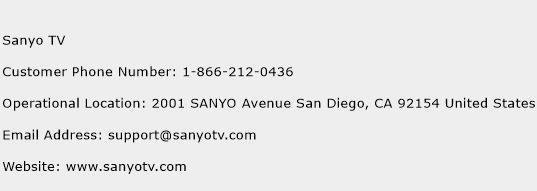 Sanyo TV Number | Sanyo TV Customer Service Phone Number | Sanyo TV