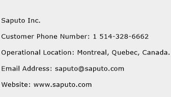 Saputo Inc. Phone Number Customer Service