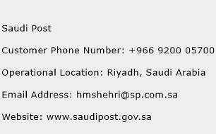 Saudi Post Phone Number Customer Service