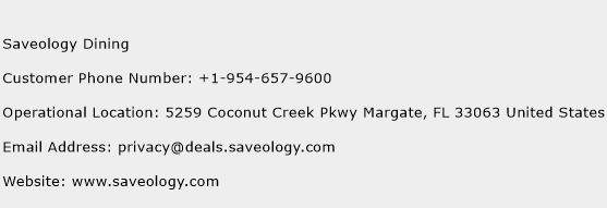 Saveology Dining Phone Number Customer Service