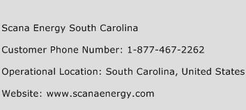 Scana Energy South Carolina Phone Number Customer Service