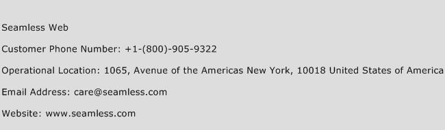 Seamless Web Phone Number Customer Service