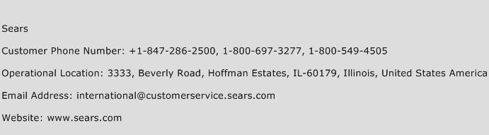 Sears Phone Number Customer Service