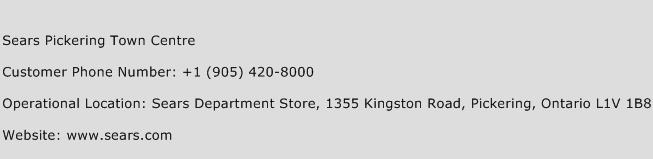 Sears Pickering Town Centre Phone Number Customer Service
