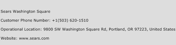 Sears Washington Square Phone Number Customer Service