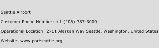 Seattle Airport Phone Number Customer Service
