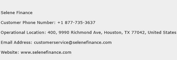 Selene Finance Phone Number Customer Service