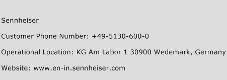 Sennheiser Phone Number Customer Service