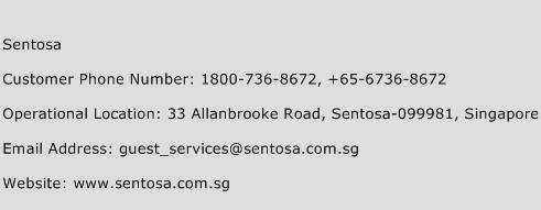 Sentosa Phone Number Customer Service