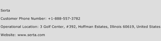 Serta Phone Number Customer Service