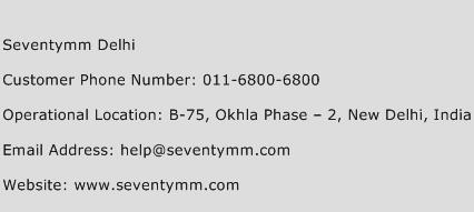 Seventymm Delhi Phone Number Customer Service