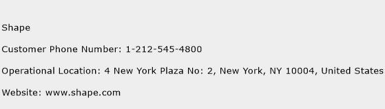 Shape Phone Number Customer Service