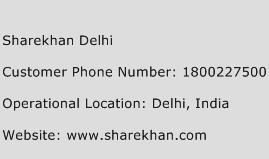 Sharekhan Delhi Phone Number Customer Service