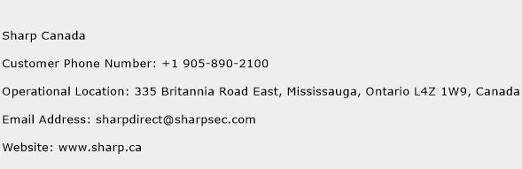 Sharp Canada Phone Number Customer Service