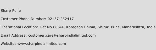 Sharp Pune Phone Number Customer Service
