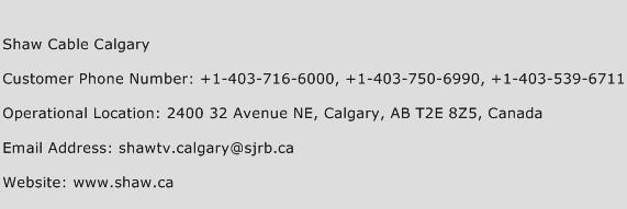 Shaw Cable Calgary Phone Number Customer Service