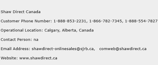 Shaw Direct Canada Phone Number Customer Service