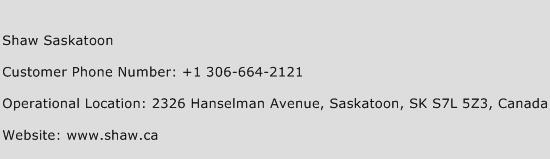 Shaw Saskatoon Phone Number Customer Service