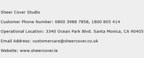 Sheer Cover Studio Phone Number Customer Service
