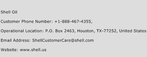 Shell Oil Phone Number Customer Service