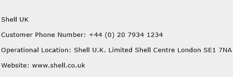 Shell UK Phone Number Customer Service
