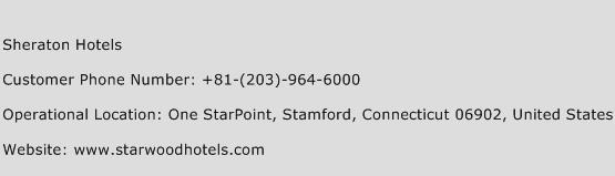 Sheraton Hotels Phone Number Customer Service