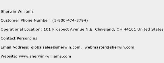 Sherwin Williams Phone Number Customer Service