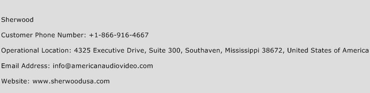 Sherwood Phone Number Customer Service