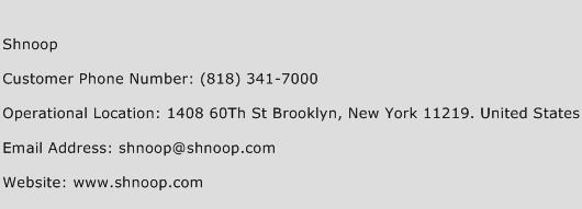 Shnoop Phone Number Customer Service