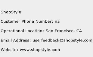 ShopStyle Phone Number Customer Service