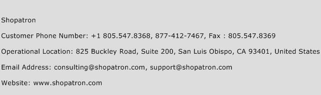 Shopatron Phone Number Customer Service
