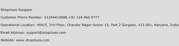 Shopclues Gurgaon Phone Number Customer Service