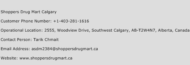 Shoppers Drug Mart Calgary Phone Number Customer Service