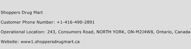 Shoppers Drug Mart Phone Number Customer Service