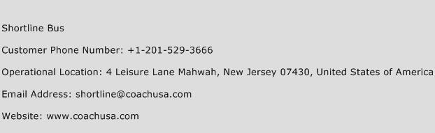 Shortline Bus Phone Number Customer Service