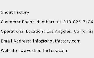 Shout Factory Phone Number Customer Service