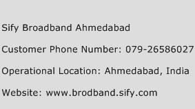 Sify Broadband Ahmedabad Phone Number Customer Service