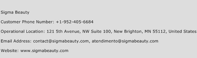 Sigma Beauty Phone Number Customer Service
