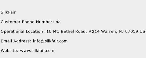 SilkFair Phone Number Customer Service