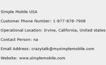 Simple Mobile USA Phone Number Customer Service