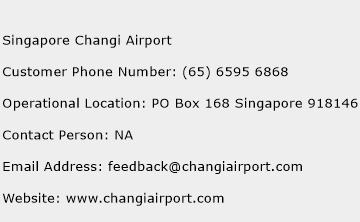 Singapore Changi Airport Contact Number  Singapore Changi Airport Customer Service Number