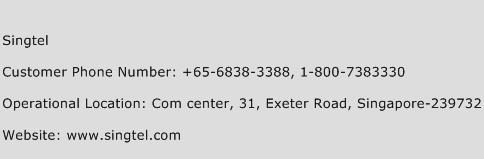Singtel Phone Number Customer Service