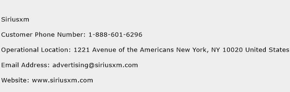 Siriusxm Phone Number Customer Service