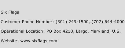 Six Flags Phone Number Customer Service