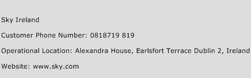 Sky Ireland Phone Number Customer Service