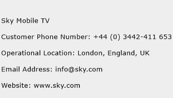 Sky Mobile TV Phone Number Customer Service