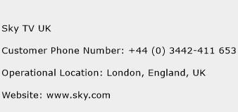 Sky TV UK Phone Number Customer Service