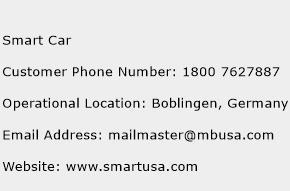 Smart Car Phone Number Customer Service