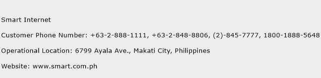 Smart Internet Phone Number Customer Service